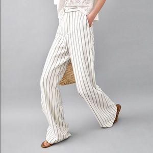 Zara high waisted wide leg pants with stripes